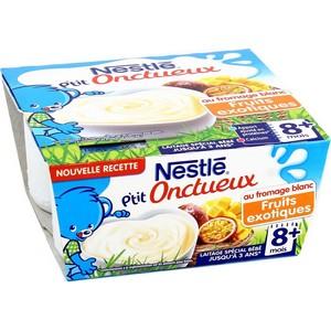 Nestlé p'tit brassé au fromage blanc fruits exotiques 8 mois plus 4x100g