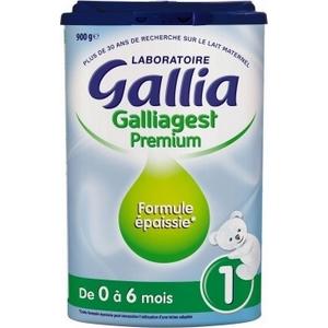 Gallia Galliagest prémium formule épaissie N°1 de 0-6 mois 900g