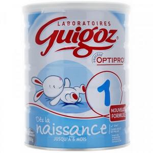 Guigoz lait 1er âge optipro jusqu'à 6 mois 900g