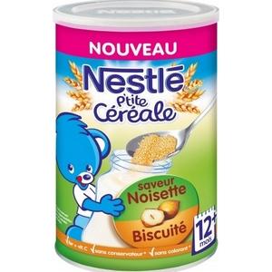 Nestlé p'tite céréale noisette biscuité 12M plus 400g