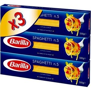 Pâtes Barilla spaghetti n.5 3x500g