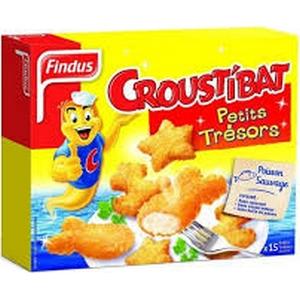 Findus croustibat, petits trésors 450g