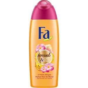 Gel douche Fa Sensual&Oil à l'huile d'Argan, fleur de monoï 250ml