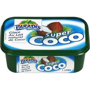Paradis glace super coco au lait naturel de coco 1000ml