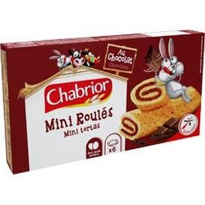 Chabrior mini roulés au chocolat 6x25g