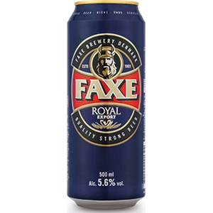 Bière faxe royal export 5,6% alc. Vol. 500 ml
