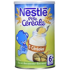 Nestlé p'tite céréale 5 céréales dès 6 mois 400g
