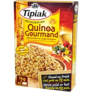 Tipiak quinoa gourmand blanc et rouge Boulgour 1kg