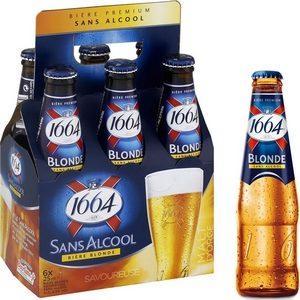 Bière blonde 1664 sans alcool blle 6x25cl