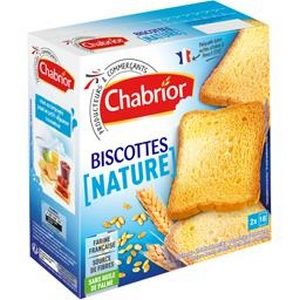 Chabrior biscottes nature 36 tranches 300g