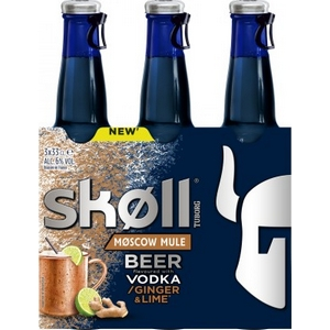 Bière Skoll vodka ginger lime 6% vol. 3x33cl