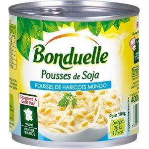 Bonduelle pousses de soja (haricots Mungo) 1/2 400g