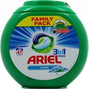 Ariel pods alpine 3en1 47 doses