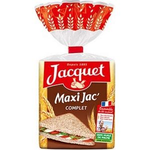 Pain complet maxi jacquet 14 tranches 550g