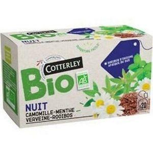 Cotterley BIO nuit, camomille-menthe verveine-rooibos x20 30g