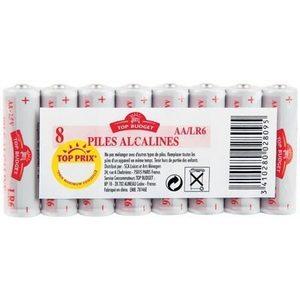 Top Budget piles Alkaline AA/LR6 X8