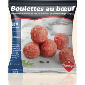 Gam'gel boulettes au bœufs surgelées 900g