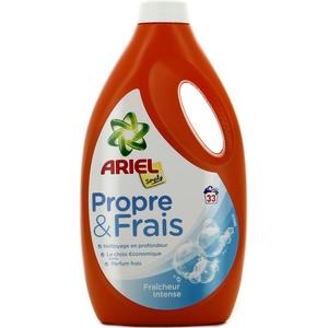 Lessive liquide ariel simply propre et frais fraîcheur intense 33 doses 1815ml