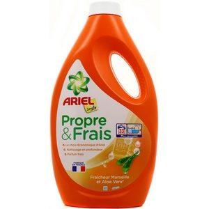 Lessive liquide ariel simply propre et frais fraîcheur Marseille et aloe vera 33 doses 1815ml