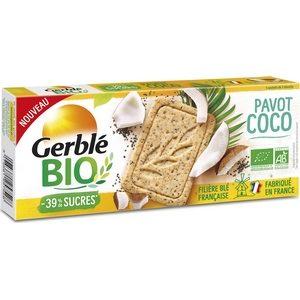 Gerblé bio biscuit pavot coco -39% de sucre 132g