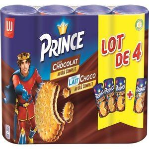 Lu prince goût chocolat (3) goût tout choco (1) 4x300g