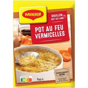 Maggi soupe déshydratée bouillon pot-au-feu vermicelles 57g