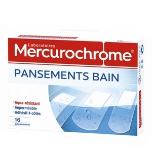 Mercurochrome 16 pansements bain imperméable à l'eau