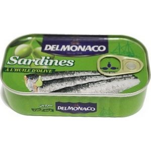 Delmonaco sardine à l'huile d'olive 120g