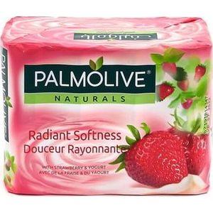 Palmolive savon de toilette fraise et yaourt 4x90g