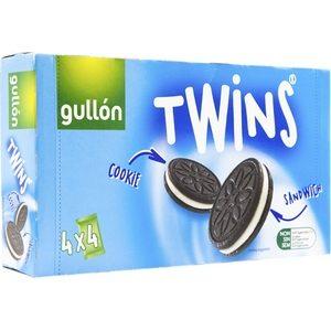 Gullon twins biscuits cacaotés fourrés arôme vanille 176g(4x44g)