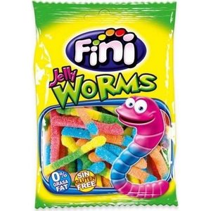 Fini Jelly Worms bonbons vers de terre citriques  mini sachets de 100gr