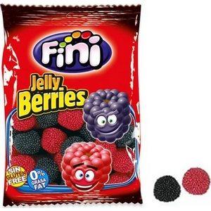 Fini Jelly berries bonbons Mûres et framboises mini sachets de 100gr