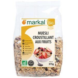 Markal Bio muesli croustillant aux fruits 375g