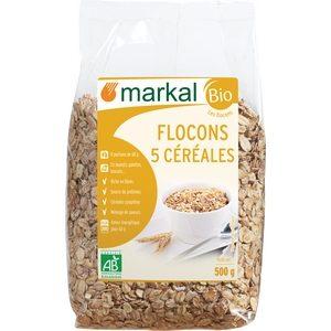 Markal Bio flocons 5 céréales 500g