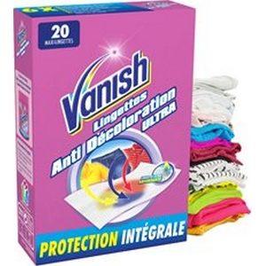 Vanish lingettes anti-transfert de couleurs x20 (jusqu'à 40 lavages)