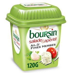 Boursin salade et apéritif ail et fines herbes 120g