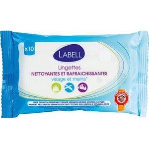 Labell lingettes nettoyantes et rafraîchissantes visage et mains x10