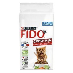 Fido chien de 1kg à 25kg croq'mix au bœuf et aux légumes 1kg