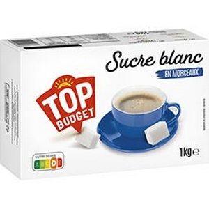 Top budget sucre blanc en morceaux 1kg