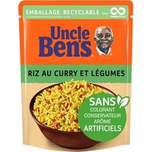 Uncle Ben's en 2 minutes riz cuisiné au curry et légumes 250g