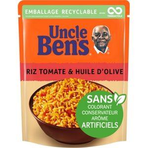 Uncle Ben's en 2 minutes riz cuisiné à la tomate et huile d'olive 250g