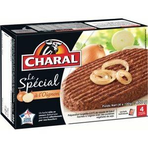 Charal steak hachés le spécial à l'oignon 4x100g