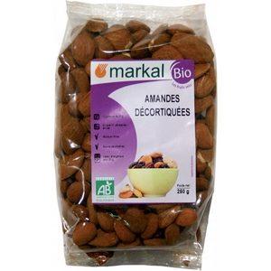 Markal bio, amandes décortiquées 250g